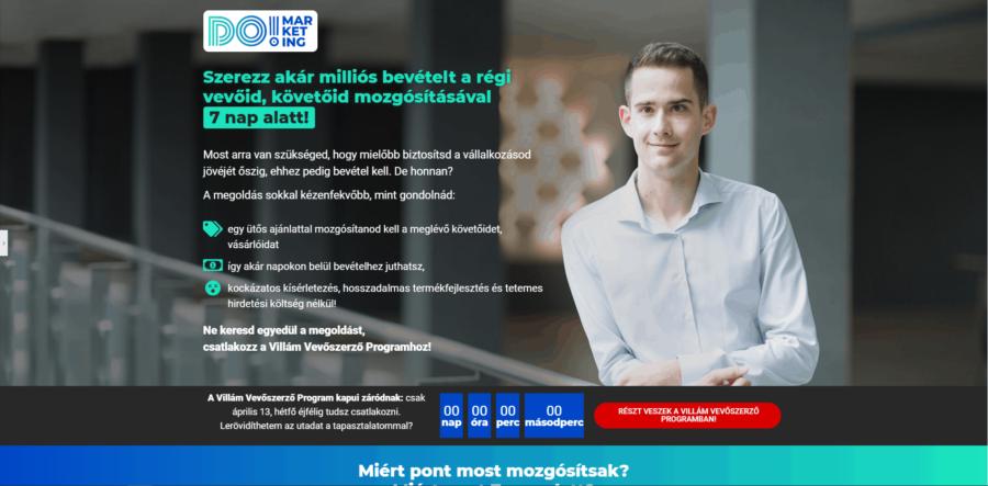 DO! marketing - Domán Zsolt - Villám Vevőszerző Program (VVP)