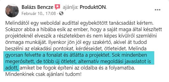 Bencze Balázs véleménye landing oldal tanácsadásról