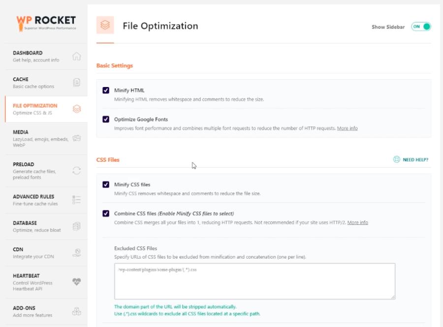 weboldal sebesség növelés WP Rockettel